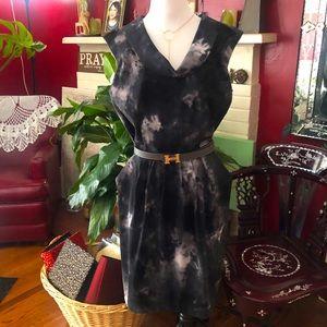 AB. Studio Tie Dye Print Sheath Dress